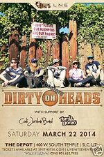 DIRTY HEADS / CODI JORDAN BAND 2014 SALT LAKE CONCERT TOUR POSTER - Reggae Music
