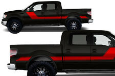 Custom Vinyl Decal Rally Stripe 2 Wrap Kit for Ford F-150 Truck 09-14 - Dark Red