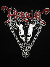 Heretic Morbid Maniac Black Metal Punk XXL T-shirt Demonic Slaughter Under Satan