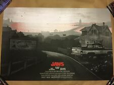 Kevin Wilson Ape Meets Girl Jaws Amity Island Closed Movie Print Poster Mondo