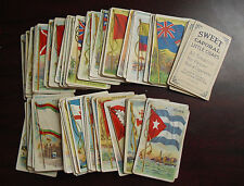Lot of 97 Vintage 1909 T59 Sweet Caporal Cigarettes Cards Flags of All Nations