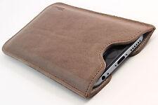IPhone 4/4s Custodia Cellulare Pelle Marrone Custodia Guscio Bag Cover Astuccio desiderio INCISIONE