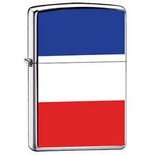 Zippo 7983, France Flag, High Polish Chrome Finish Lighter, Full Size