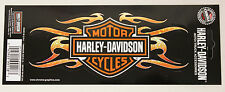 NEW Genuine Harley Davidson USA Flaming Bar & Shield HD logo mini decal sticker