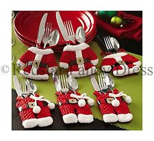 6PCS CHRISTMAS CUTLERY HOLDERS DECORATION SILVERWARE KITCHEN TABLEWARE HOME