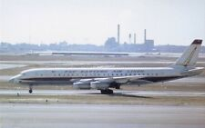 Eastern Airlines DC8-21 Golden Falcon jet airplane postcard