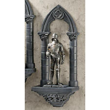 Medieval Chivalrous Guardian Knight Gothic Architecture Arch Wall Sculpture