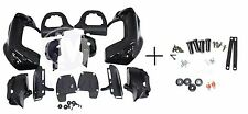 Mutazu Complete Lower Vented Leg Fairing Kit Vivid Black for Harley Touring FLH