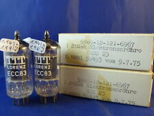 Matched Pair ECC83 Lorenz # MILITARY # NIB # smooth plates #  same code (10006)