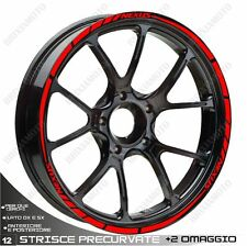 ADHESIVE PROFILES WHEELS RIM STICKERS  GILERA NEXUS 300 500 RED