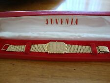 JUVENIA MENS 18K ( .750 ) CASE & BRACELET WATCH QUARTZ ORIGINAL BOX