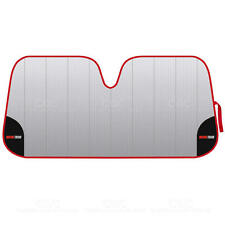 Motor Trend Car Window Sun Shade - Red Lining Folding Windshield Shade Visor