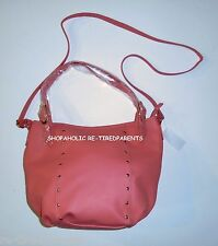 PURSE – HANDBAG - SHOULDER BAG - TOTE – CORAL – TEXTILE LEATHER - LARGE –NWT $37