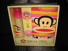 Small PAUL FRANK Baby girl 5 piece bottle bib dummy burp cloth clip gift set New