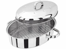 JUDGE TC120 32cm  STAINLESS STEEL ROASTER ROASTING DISH LID RACK