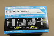 """Toggler  SnapToggle BB  100  1/4""""  Heavy Duty Toggle Bolts  WITH SCREWS 24014"""
