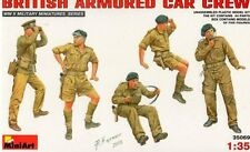 WW II BRITISH ARMOURED CAR CREW (to DAIMLER, AEC, STAGHOUND, HUMBER)1/35 MINIART