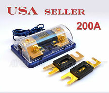 Digital Display ANL Fuse Holder Gold Plated upto 0 Gauge 2Free Fuse 200A FH