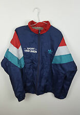 VTG RETRO URBAN RENEWAL ADIDAS SPORTS ATHLETIC NEON SHELLSUIT TRACKSUIT TOP UK M