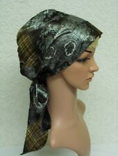 Head Covering, Satin Tichel, Silky Head Snood for Natural Curly Hair, Head Wear