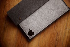 "New MacBook Pro 15"" Touch Bar - Felt Sleeve Case Cover Bag - with buttons"
