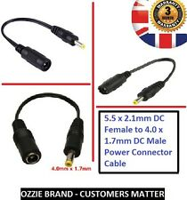 4.0mm x 1.7mm Male Plug to 5.5mm x 2.1mm female socket DC Power Adapter cable