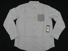 $49 NWT Mens Marc Ecko Button Down Shirt Lantana Oxford Woven Purple Size M M059