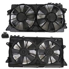 New Dual Radiator and Condenser Fan FOR 2010 2011 2012 2013 2014 Ford F150