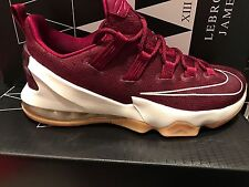 NEW MENS NIKE LEBRON XIII LOW CAVS 831925-610 SHOES SZ 9 $ 175