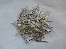 100 ARROW CONNECTOR PINS 33 mm SILVER CHANDELIER PARTS LAMP CRYSTAL PRISM BEAD