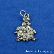 Silver COUNTING SHEEP CHARM Sleep Bedtime Nap Sleepy Insomnia PENDANT *NEW*