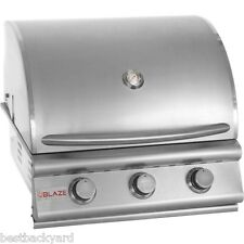 "BLAZE BBQ GRILLS 25"" STAINLESS STEEL 3-BURNER GAS BUILT IN / DROP IN BBQ GRILL"