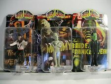 Creepy Classics Lot of 3 Figures ~ Frankentein, the Mummy, the Werewolf ~ NEW