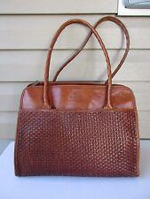 Patricia Nash Tote Hand Bag Shoulder bag Brown Leather