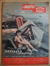 AUTO MOTOR UND SPORT 3.4.- 7/1954 Camping Zubehör Renault-Fregatte Genfer Salon