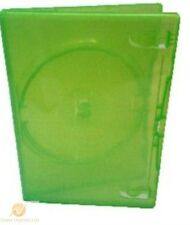 100 Single Clear Green DVD Case 14 mm Spine Empty Replacement Amaray Cover