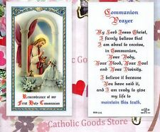 Girl First Holy Communion - Laminated Holy Card