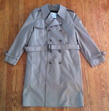 LONDON FOG MAIN COATS: Vtg Mens Khaki Trench Coat, Zip-out Lining, 42 Long