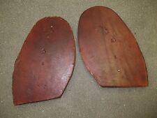 1 Pr. Ledersohlen Sohlenleder Schuhsohlen Kernleder Sohlen Grubengegerbt 5 + mm
