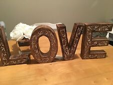 Shabby Vintage Chic Style Love Home Wooden Letters Freestanding Sign Large
