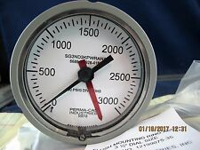 "3 ½"" 0-3000 PSI Flush Mount Pressure Gauge Military Issue [D2S2]"