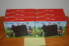 New Nintendo 3DS Super Mario Black Edition Console - NEW SEALED MINT, RARE LE!