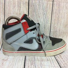 Mens Nike High Cut  Sneakers Shoes Size 8.5 Gray Red White Black