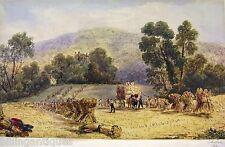 Inghilterra raccolta PAESAGGIO e.m.maule 1845 Acquerello