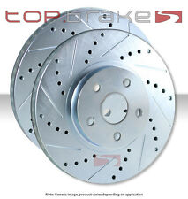 REAR TOPBRAKES Performance Drilled Slotted Brake Disc Rotors VENTED TB34247