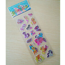 2016 My Little Pony PUFFY Stickers Party Bag Fillers Kids Favours Birthday Gift