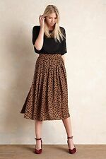 Anthropologie Ottod'ame Canella Pleated Brown/Black Skirt NEW UK6