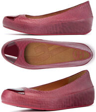 NEW FitFlop Womens Due Snake raspberry jam size 10 flats shoes flats leather