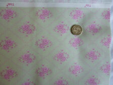 Tilda Fabric Cottage Rose Mist 10m roll Summer craft quilting Cotton material