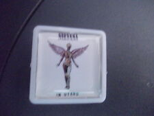 NIRVANA IN UTERO     ALBUM COVER    BADGE PIN